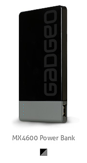 Gadgeo product photo of a portable power bank charger 4600 mah